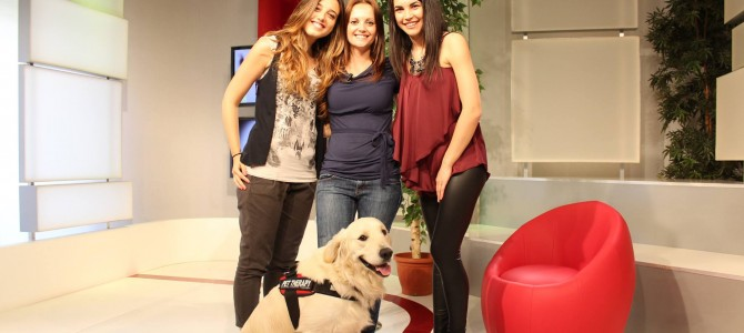 Noah e Antonia Tarantini in TV per la Pet Therapy!