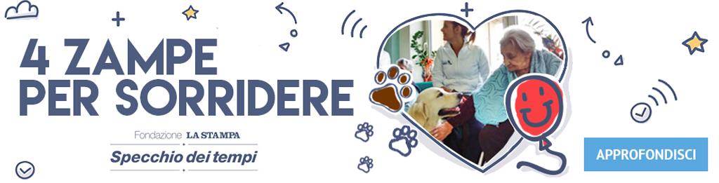 4 Zampe Per Sorridere, Lo Specchio dei Tempi, La Stampa, Pet Therapy Torino, corsi ed attività