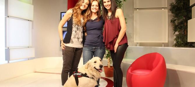 Noah e Antonia Tarantini in TV per la Pet Therapy!
